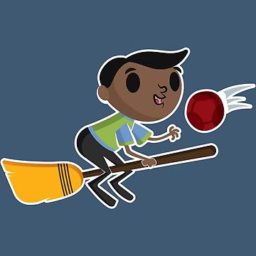 Retro Wizard on a Broom (2) by adamgamm