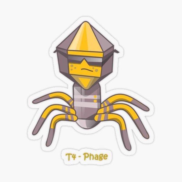 T4 Virus Transparenter Sticker