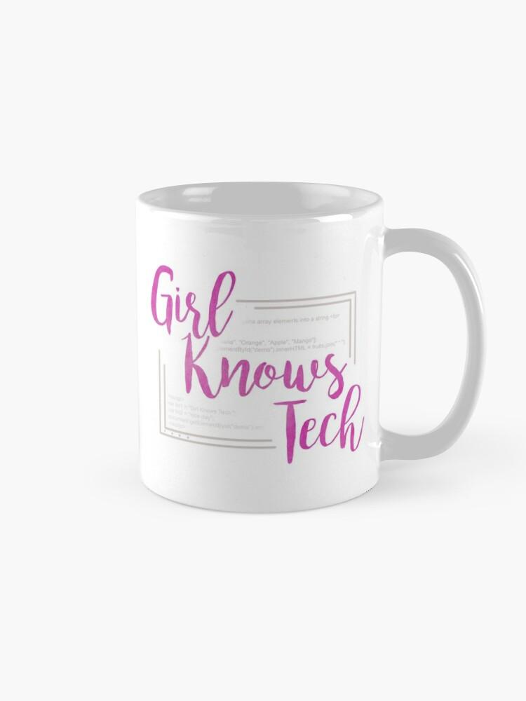 Alternate view of Girl Knows Tech Mug