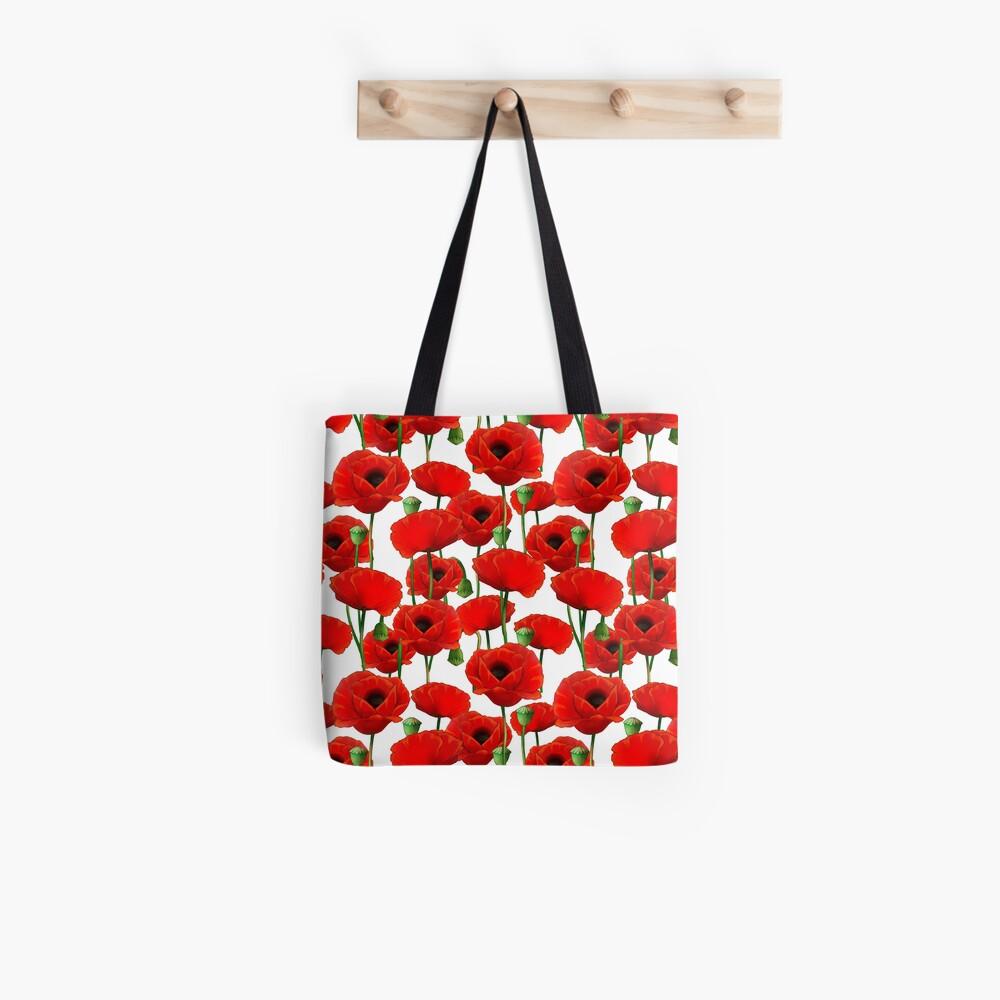 Poppy Pattern Tote Bag