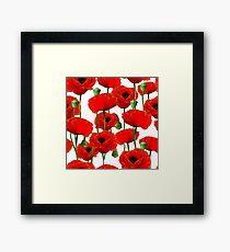Poppy Pattern Framed Print