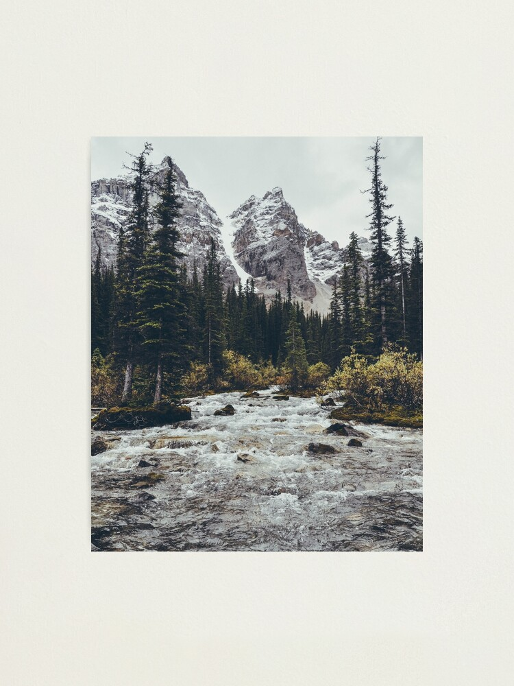 Alternate view of mountain rapids Photographic Print