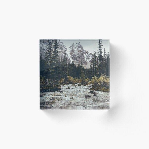 mountain rapids Acrylic Block