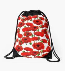 Poppy Pattern Drawstring Bag
