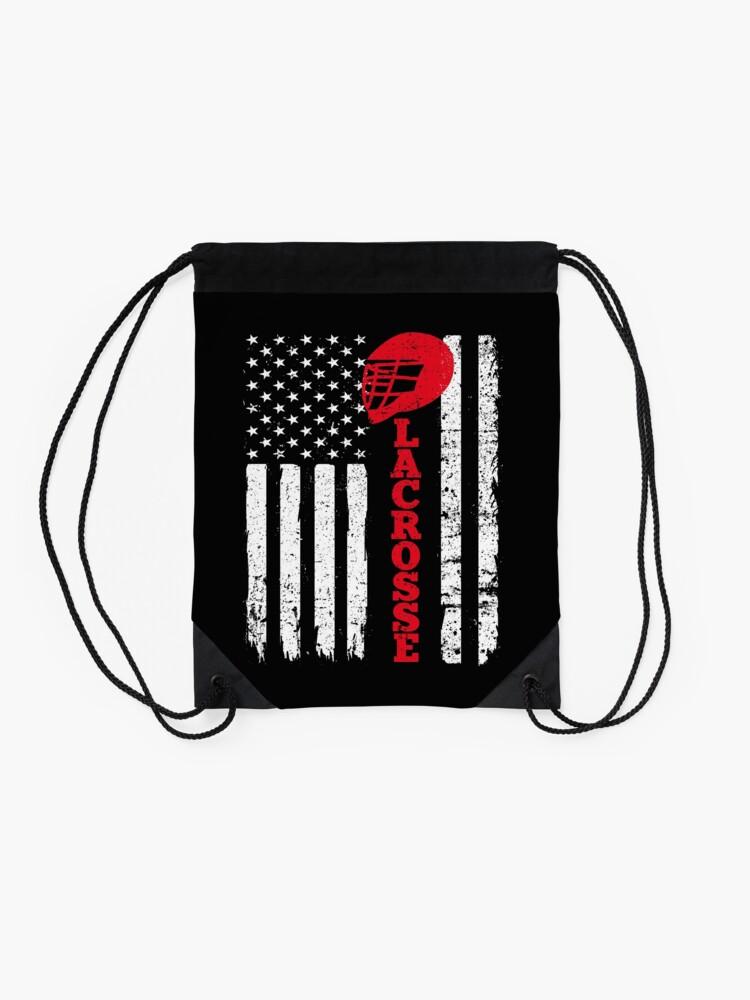Alternate view of Flag Lacrosse Drawstring Bag