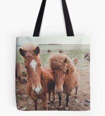 icelandic ponies Tote Bag