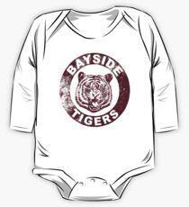 Bayside Tigers (Mascot Emblem - Distressed)  One Piece - Long Sleeve