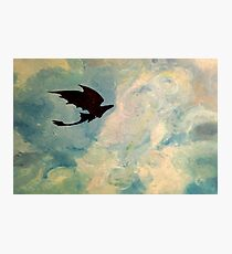 Toothless in the Sky Photographic Print