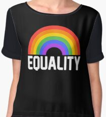pride equality rainbow Women's Chiffon Top