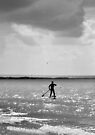 Lone Paddle Boarder by Laurie Minor