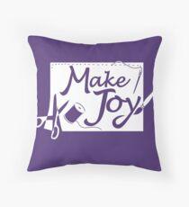 Make Joy Crafter Gift Throw Pillow