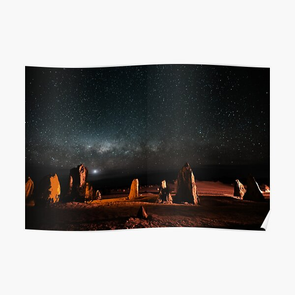 Milky Way Above the Pinnacles Poster