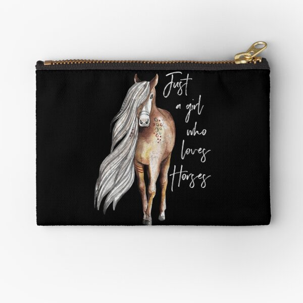 Just a Girl Who Loves Horses - Horse Lover Design Zipper Pouch