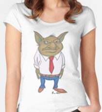 Corporate Troll Women's Fitted Scoop T-Shirt
