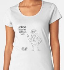 Nerdy Lion cat Women's Premium T-Shirt
