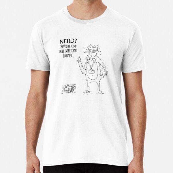 Nerdy Lion cat Premium T-Shirt