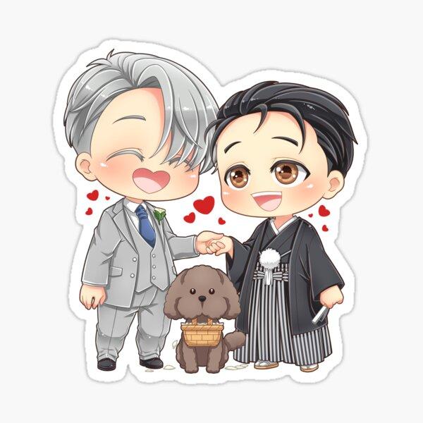 Hochzeit Victor Yuuri Yuri auf Eis Sticker