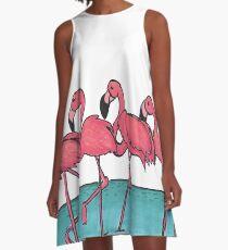 Pink Flamingo  A-Line Dress