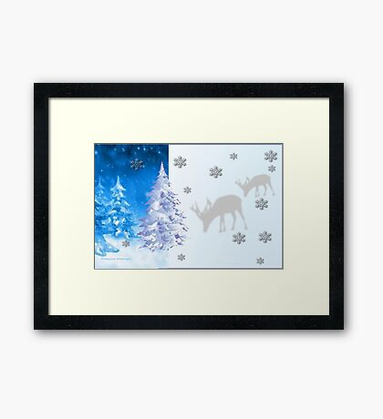 A blue Christmas on all products (5518 Views) Framed Print