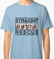 Straight Outta Rescue Pit Bull Dog Rescue T Shirt Classic T-Shirt