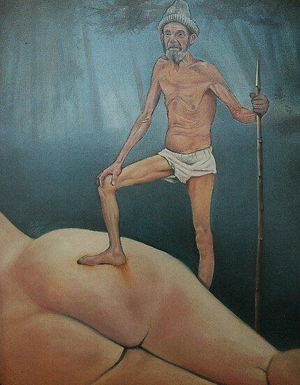 CAPITAL SPECIMEN, limited edition giclee of D.KLIKOVAC painting by Drasko Klikovac