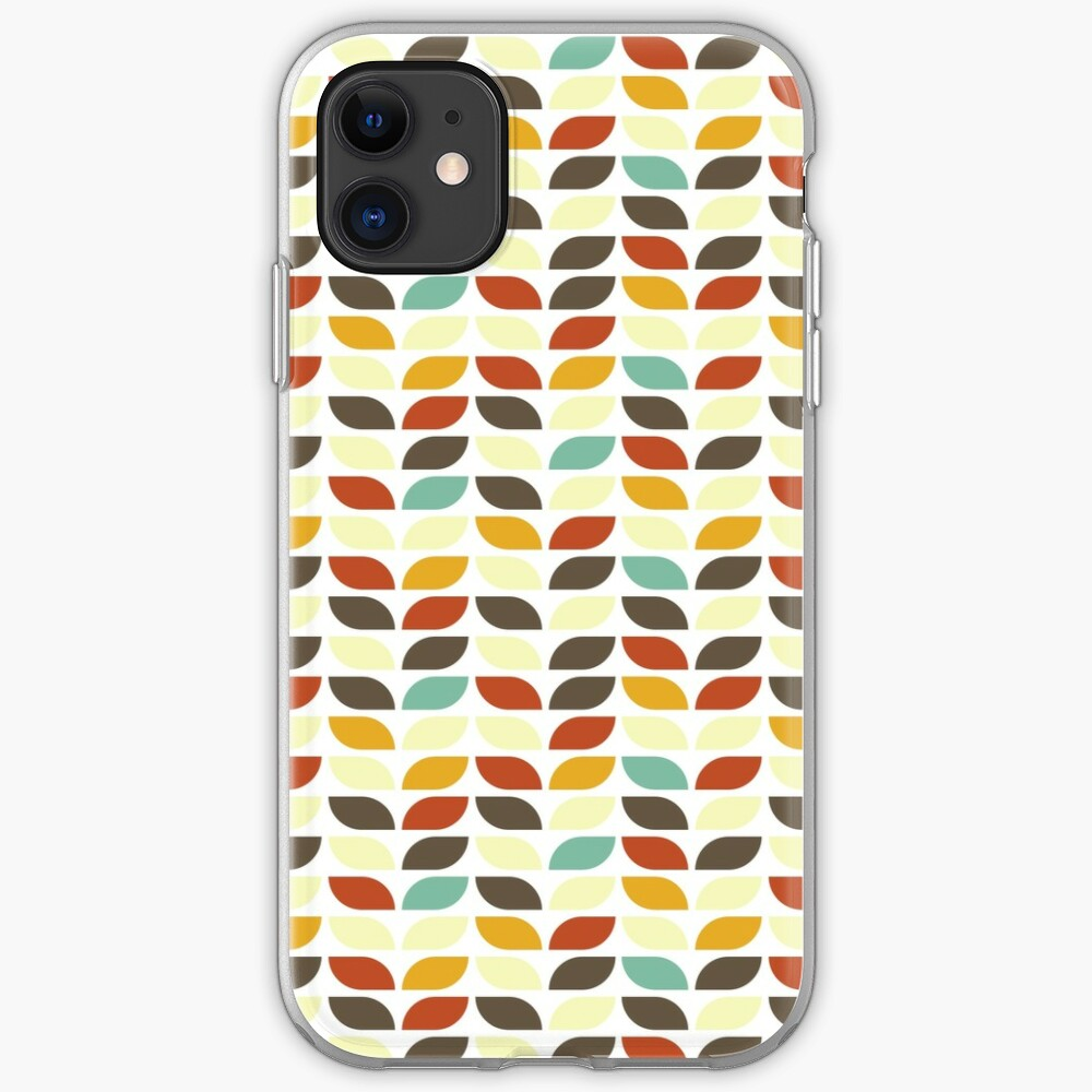 Geometric Pattern: Leaf: Fall iPhone Case & Cover