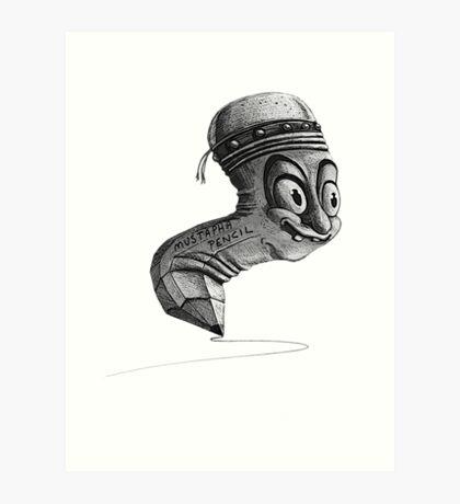 Mustapha Pencil Art Print