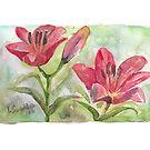 Lilies by Yana Art