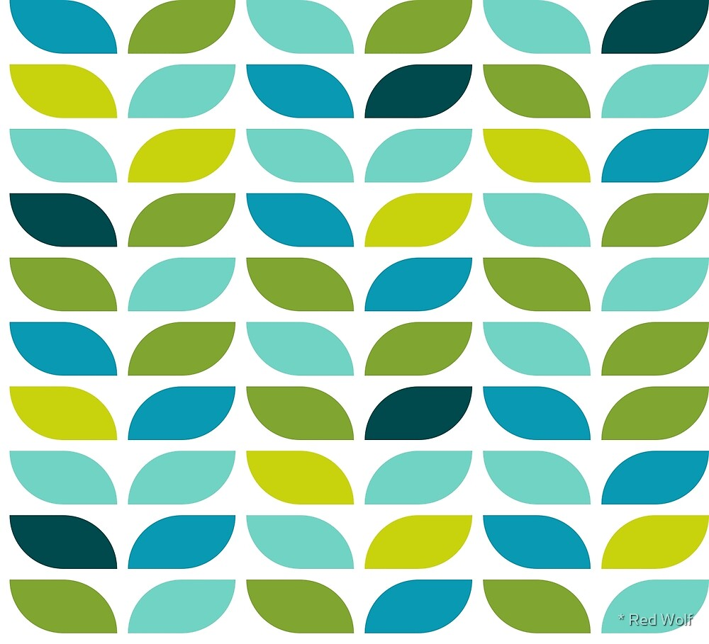 Geometric Pattern: Leaf: Spring by * Red Wolf