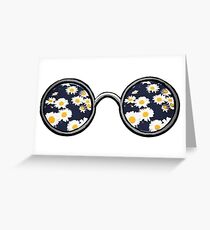 Glasses- daisy Greeting Card