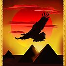 GREAT PYRAMIDS and Eagle by Lotacats