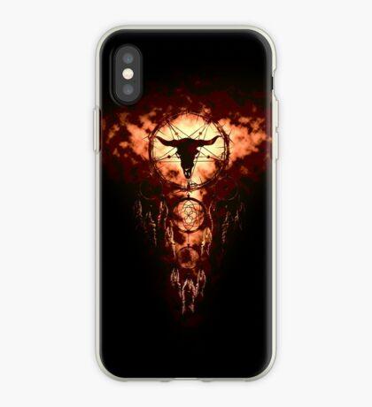 summoning circle pentagram - dream catcher iPhone Case