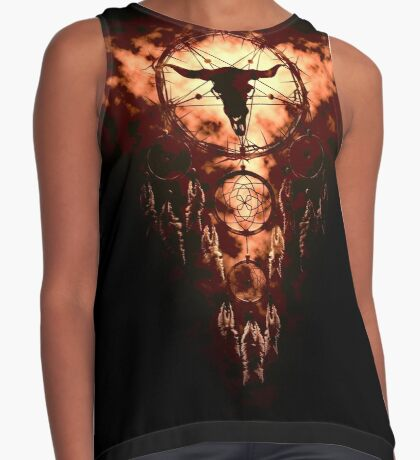 summoning circle pentagram - dream catcher Contrast Tank