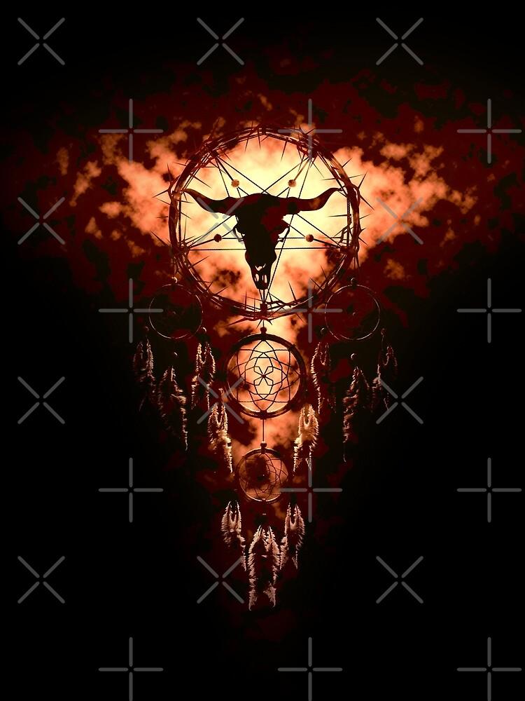 summoning circle pentagram - dream catcher by cglightNing