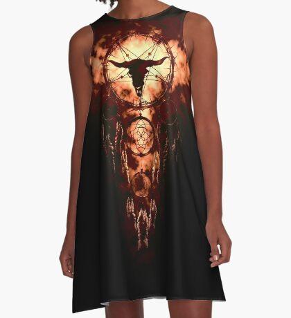summoning circle pentagram - dream catcher A-Line Dress