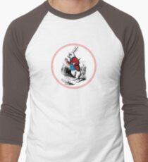 Alice in Wonderland | White Rabbit checking his Watch Men's Baseball ¾ T-Shirt