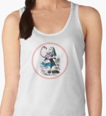 Alice in Wonderland | Alice trying to play croquet with a Flamingo and Hedgehogs Women's Tank Top