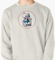 Alice in Wonderland | Alice trying to play croquet with a Flamingo and Hedgehogs Pullover