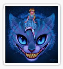 Alicia y Cheshire (by Caro Comolli) Sticker