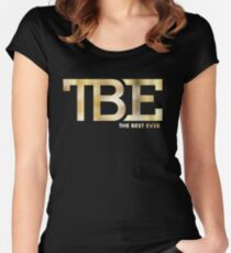TBE the best ever floyd undefeated Women's Fitted Scoop T-Shirt