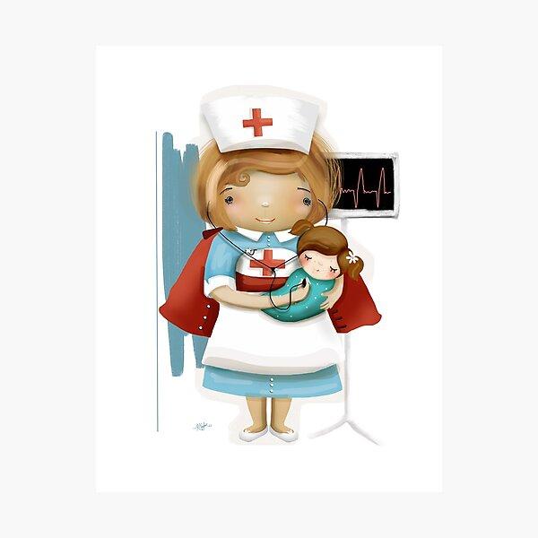 The Little Nurse Photographic Print