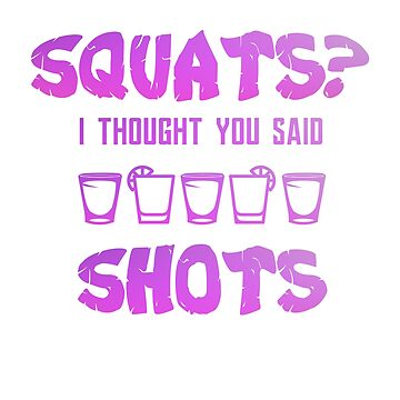 Humorous Drink Tshirt For Anti Gym and Exercise Friends by suespak