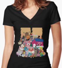 The amazing world of Gumball Women's Fitted V-Neck T-Shirt