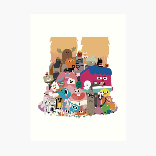 The amazing world of Gumball Art Print