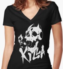KILL-A symbol Women's Fitted V-Neck T-Shirt