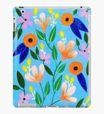 Flowers on blue iPad Case/Skin