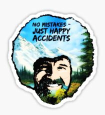 Bob Ross - Happy Accidents I Sticker