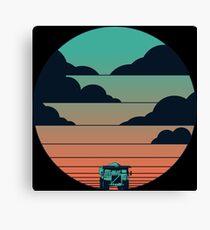 Over High Truck Sunrise Canvas Print