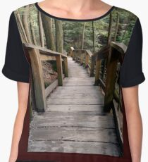 Stairs In The Wilderness (2) Women's Chiffon Top