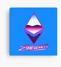 Ethereum Retro Canvas Print